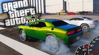 Hellcat Challenger Donk Drag Racing! - GTA 5 Real Hood Life - Day 17