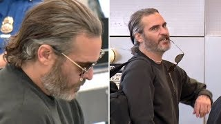 Joaquin Phoenix Wears Broken Glasses, Asked About Jennifer Aniston Divorce At LAX