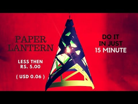 How To Make a Hanging Paper Lantern | Diwali/Christmas Decoration | DIY Laterns | InnoVatioNizer