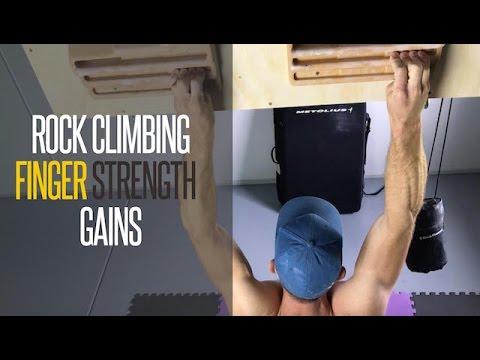 Rock climbing finger strength training