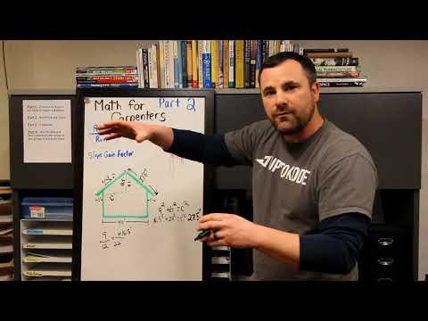 Carpenter Math : Roof Pitch & Slope Gain Factor - Pt 2