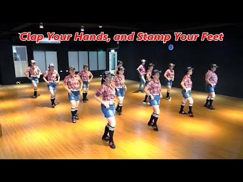 Clap Your Hands and Stamp Your Feet (by Marie Sørensen) - Line Dance (Demo & Walkthru) ~ 拍拍手跺跺腳 - 排舞
