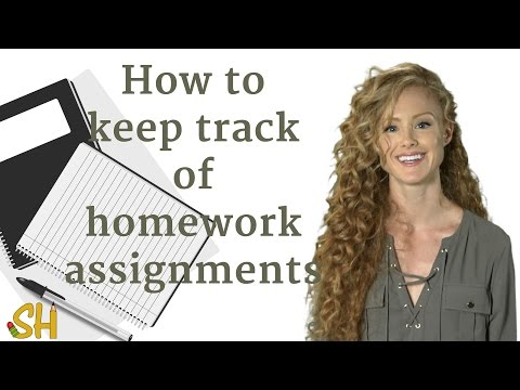 How to keep track of homework