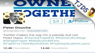 "Twitter Bans Progressive Parody Account ""Peter Douche"""