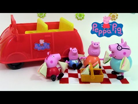 camping car de peppa pig camper van toy p te modeler play doh jouets vidoemo emotional. Black Bedroom Furniture Sets. Home Design Ideas