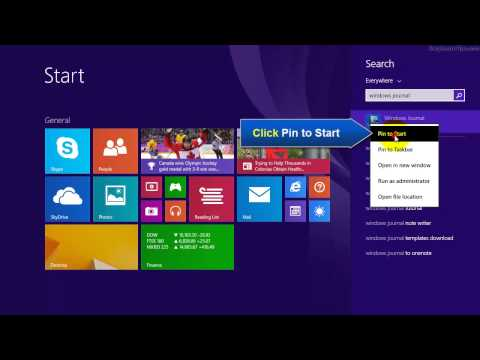 Windows 8.1 - How to add Windows Journal Tile to Start Screen
