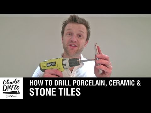 How to Drill a Hole in Porcelain, Ceramic, or Stone Tiles - Episode #1