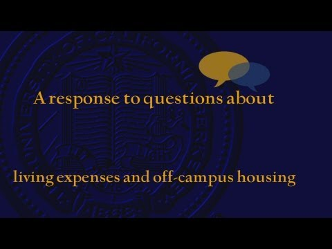 Financial Aid: Living Expenses