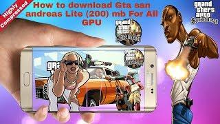 GTA San Andreas Lite V8 200 MB Any Android Mobile MALI Hindi