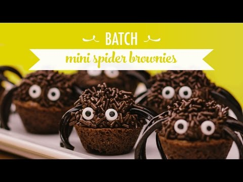 How To Bake Mini Spider Brownies For Halloween | Batch