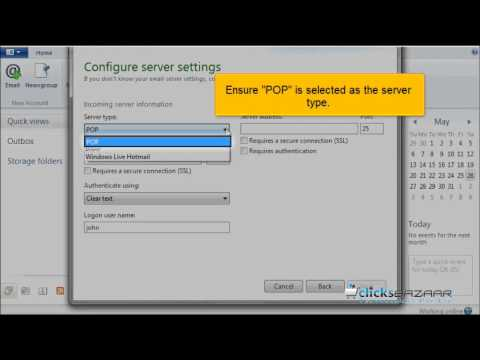 Configuring a POP email account in Windows Live Mail