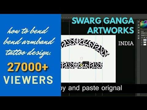 How to make perfect Armband tattoo stencil