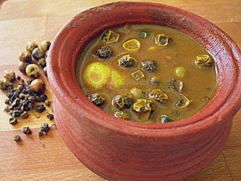 vatha kuzhambu-sun dried veggies in tangy curry