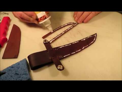 leather sheath for beginner step by step #2