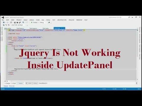 Jquery Is Not Working In UpdatePanel