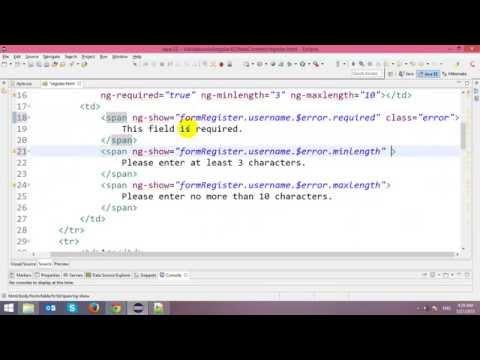 Form Validation in AngularJS