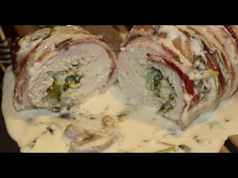 CHICKEN/  AWESOME SPINACH,MUSHROOM STUFFED CHICKEN BREAST RECIPE/ CHERYLS HOME COOKING/ EPISODE 432