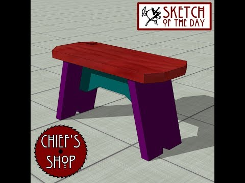 Chief's Shop Sketch of the Day: Kitchen Stool