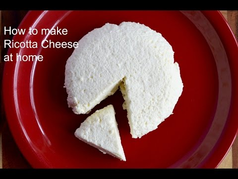 Easy Homemade Ricotta cheese | How to make Whole Milk ricotta cheese | How to make cheese at home