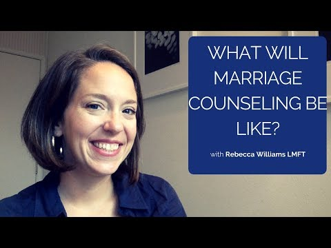 What will marriage counseling be like