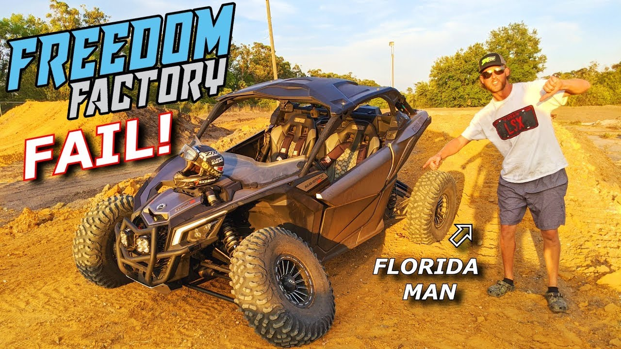 Freedom Factory SECRET TRACK RIP! Big air and BURNOUTS! X3 RZR