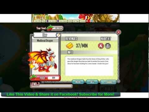Dragon City Medieval Dragon Level 1 to 7