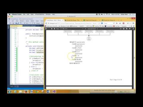 pl5.7 Coding RadioButtons; switch statement