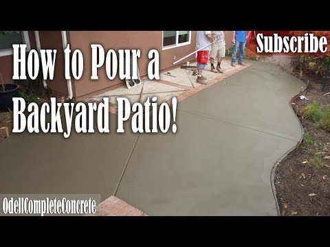 How to Pour a Backyard Concrete Patio & Fix Old Lose Brick Borders