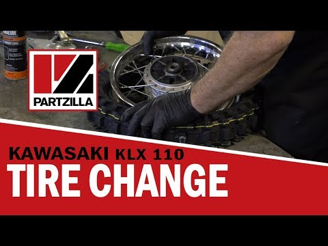 How to Change a Dirt Bike Tire on a Kawasaki KLX 110 | Partzilla.com