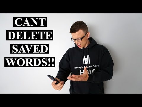 How to Delete Saved Words on Your Samsung Phone!