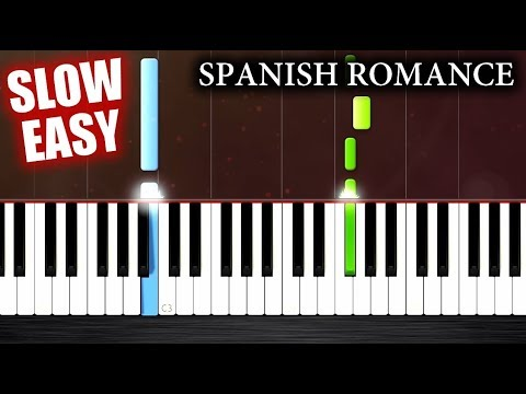 Spanish Romance - SLOW EASY Piano Tutorial by PlutaX