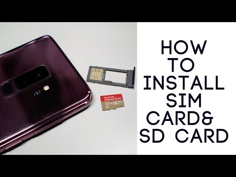 How to Install Galaxy S9 SIM Card & Memory Card