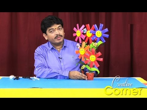 Creative Corner || How to Make Flower Basket Using Paper Cups