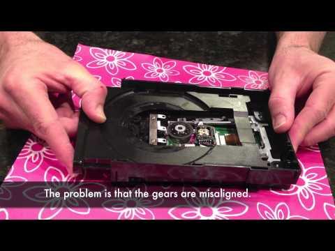 xbox 360 slim repair - Disc drive tray stuck