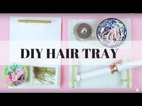 Chic DIY Hair Storage Tray - KayleyMelissa