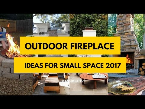 50+ Awesome Outdoor Fireplace Ideas for Small Space 2017