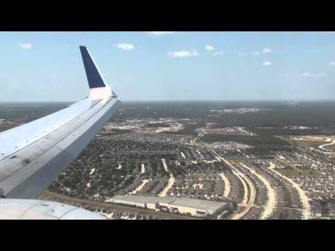 United (Continental Airlines) - Landing Houston George Bush Intercontinental Airport B737-900