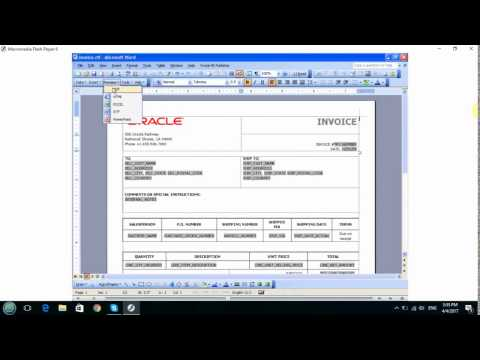 oracle BI Publisher Template Builder for word