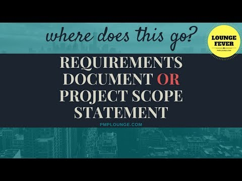 Requirements Document or Project Scope Statement | Where do these items go?