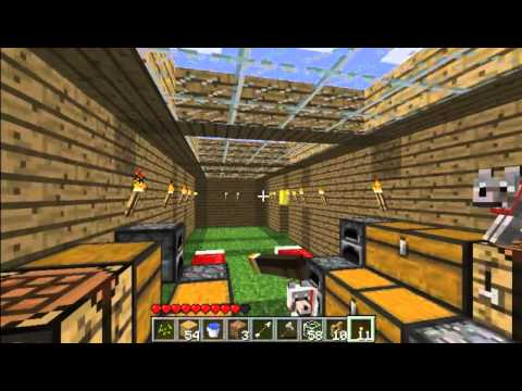 my minecraft let's play part 7.1.3 making our medium house in an advanced house