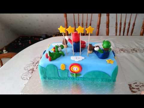 Super Mario Torte Fondant Torte  Birthday Cake Nintendo