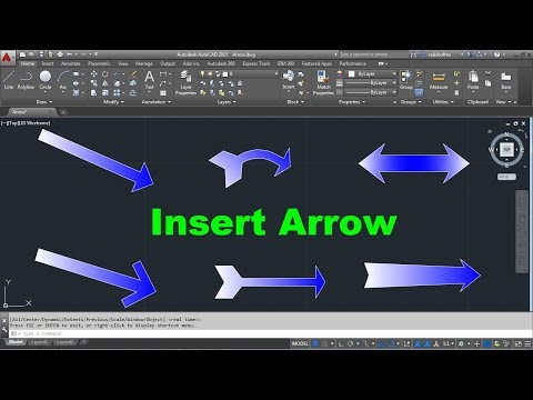 AutoCAD Insert Arrow Symbol | Curved Arrow | 6 Types of Arrows