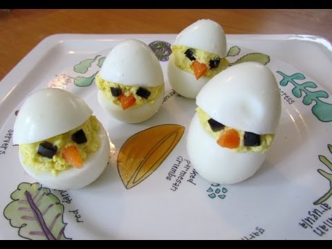 How to make deviled eggs Easter Chicks!