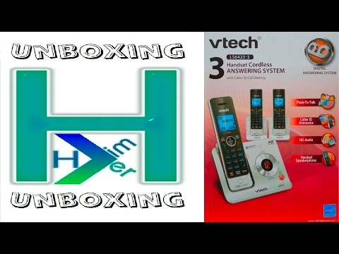 Vtech LS6425 Cordless Answering System Unboxing