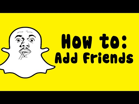 How to add friends on Snapchat!  Android!