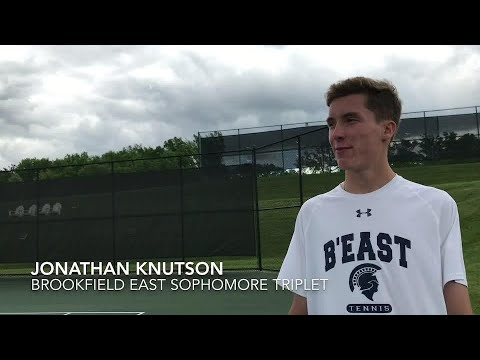 Brookfield triplets and younger brother lead East tennis team