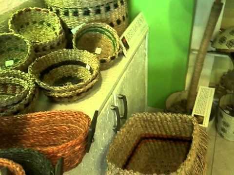 Natural Grass Baskets at Baaya Design Home Decor Store, Mumbai