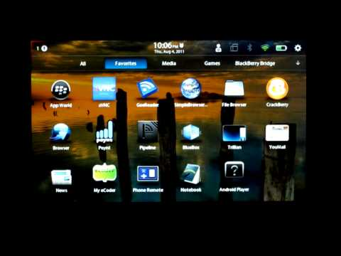 Setup Android player with Android Market on your PlayBook in 15 minutes or less.