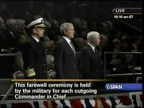 U.S. Armed Forces Honor President Bush For His Service With An Award.