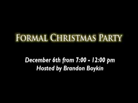 Formal Party Video Invitation